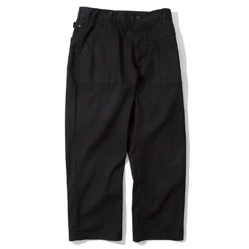 broken fatigue pants black