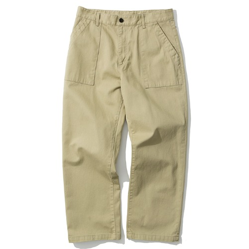 broken fatigue pants beige